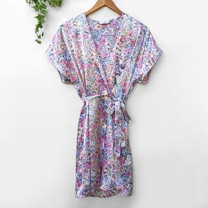 Vintage Vanity Fair Floral Kimono Robe Sleepwear S